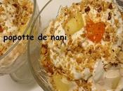 Verrines nectarines-abricots yaourt nougat