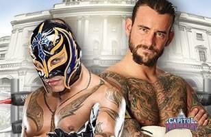Le leader des New Nexus CM Punk s'impose face à Rey Mysterio lors de Capitol Punishment 2011