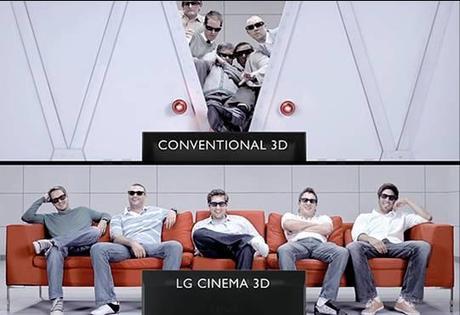 Vision plus large 3D LG Cinema 3D