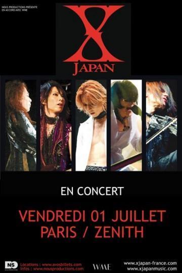 X JAPAN 01.07.11 360x540 [Jeu concours JDG] Des places pour le concert de X Japan à gagner !