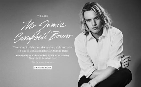 Jamie Campbell Bower pose pour Ben Weller