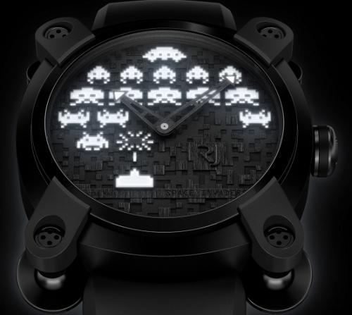 rjinvaders white Une montre Space Invaders à 10 000 $