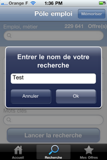 L'application Pole Emploi pour iPhone et iPad