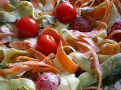 Tagliatelles légumes salade