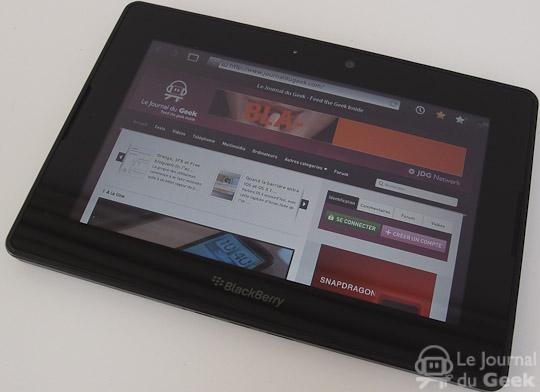 rim playbook5 La BlackBerry Playbook se met à jour