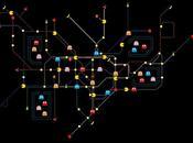 plan métro londonien façon Pac-man