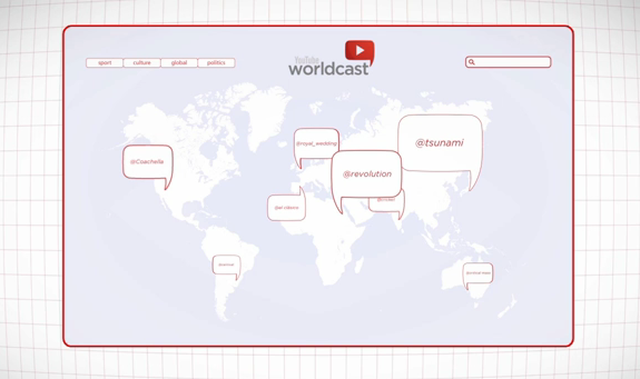 YouTube Worldcast : et si YouTube devenait News Agency ?