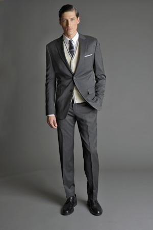 Men Look02 Grey Background La superbe collection Mad Men pour Banana Republic
