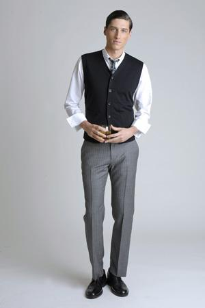Men Look06 White Background La superbe collection Mad Men pour Banana Republic