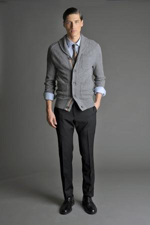 Men Look04 Grey Background La superbe collection Mad Men pour Banana Republic