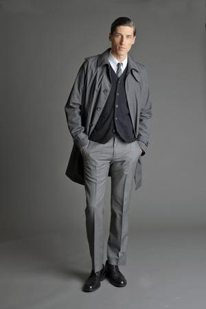 Men Look07 Grey Background La superbe collection Mad Men pour Banana Republic
