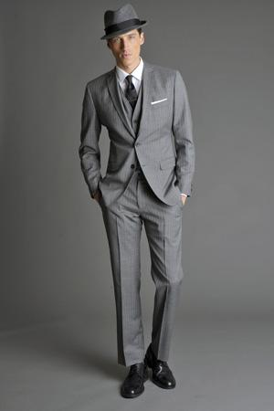 Men Look01 Grey Background La superbe collection Mad Men pour Banana Republic