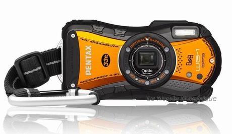 L'appareil photo numérique tout terrain Pentax Optio WG1-GPS vire au orange