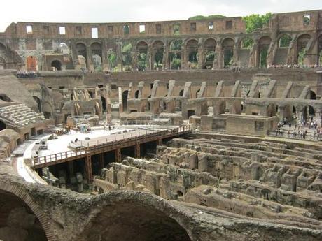 vu sur le sous sol du Colisée