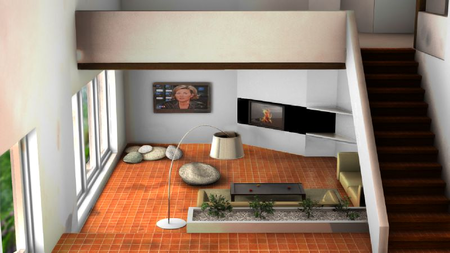 amnagement dun salon projet 3d - Amenagement Salon En L