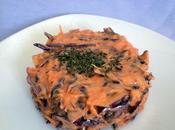 Sucré-salé chou rouge carotte, crème poivron camenbert