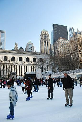 Iceskating à Wolman Ring, Manhattan