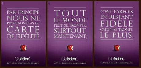 Le site de rencontres extra conjugales Gleeden lance une campagne de communication pour l'adultère