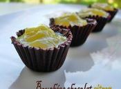 Bouchées chocolat noir crème citron