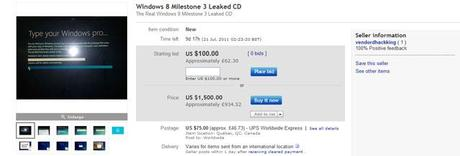 windows 8 ebay Des builds de Windows 8 en vente... sur eBay !
