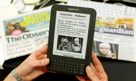 The Guardian débarque sur le Kindle Store