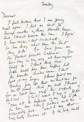 Dernière lettre de Virginia Woolf avant son suicide.