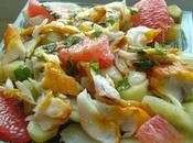 Salade haddock pamplemousse