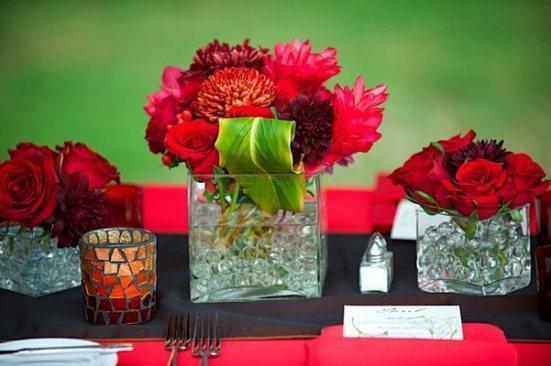 decoration de mariage rouge voir. Black Bedroom Furniture Sets. Home Design Ideas