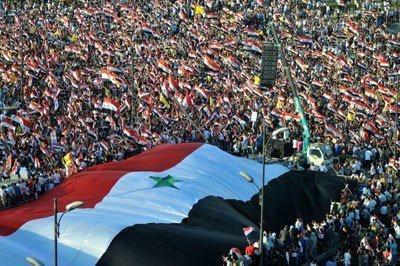 Damas - Manifestation de soutien à Bashar al-Assad
