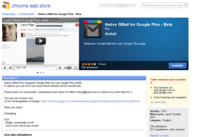 Notification Gmail dans Google+