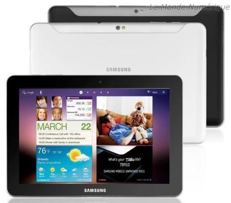 Les tablettes Samsung Galaxy Tab 10.1 et 8.9 disponibles le 8 août à partir de 459 €