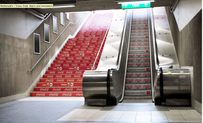 Le street marketing selon Coca-Cola et Mc Donald's