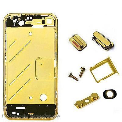 Un châssis en or pour votre iPhone 4… ou en rouge