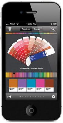 Pantone sur Android et Iphone