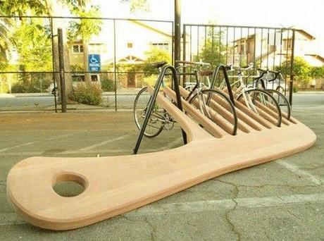 photo humour insolite peigne range-vélos
