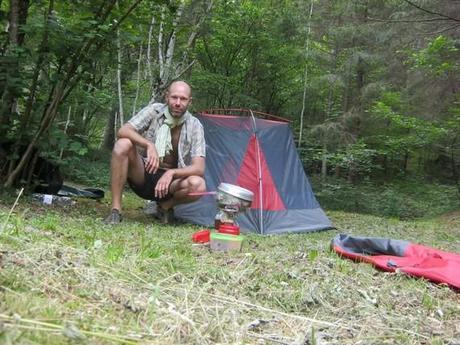 camping dans les bois