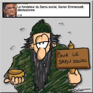 Céno Dessinateur - La Babole : Xavier Emmanuelli du Samu Social démissionne