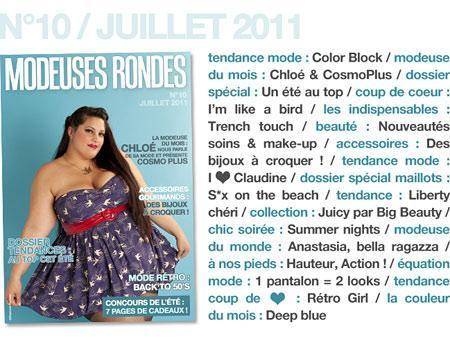 Modeuses Rondes Magazine Juillet 2011