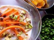 Raïta carotte autres condiments indiens