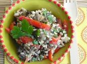 Lentils Aubergine salad Salade lentilles aubergine