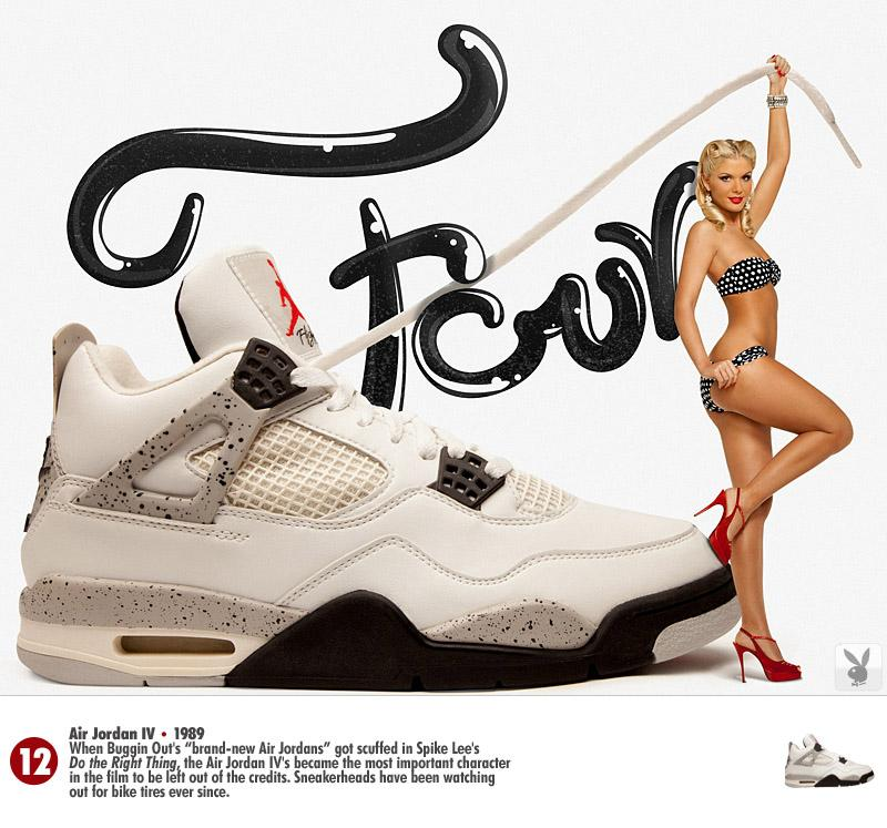 Les Baskets Nike Air Jordan vues par Playboy
