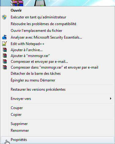 Windows Live Messenger dans la zone de notification de Windows 7
