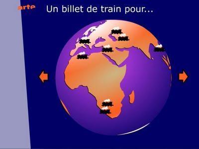 Voyage interactif en train sur Arte