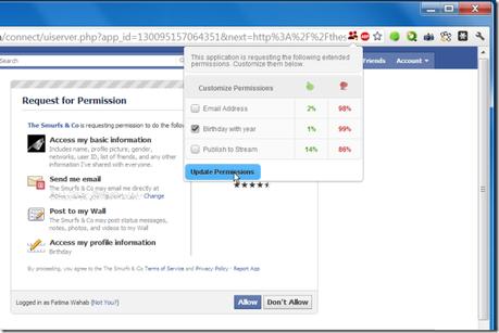 fbsecure sécurité facebook extension chrome permissions controler