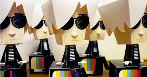 Photo paper toy Andy Warhol