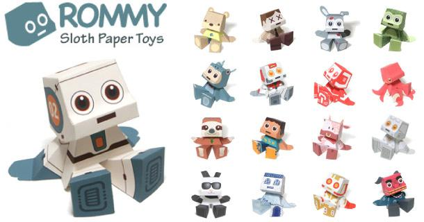 Paper toys Rommy