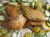 Poulet rôti légumes four