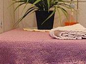 Napperon tricot-crochet parme