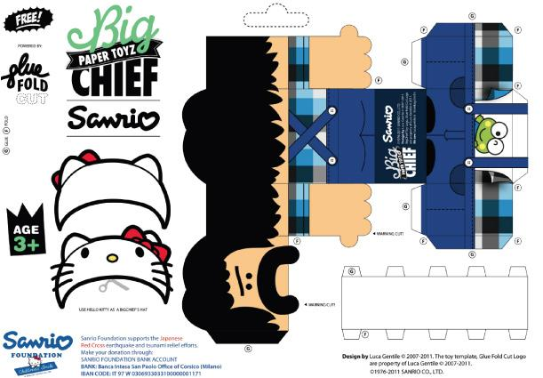 Paper toys Big Chief (x 5)