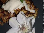 Omelette sucrée pommes pralin avec glace lait coco.